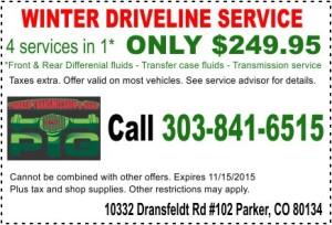 PTG - Winter Driveline Coupon